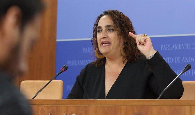 Rueda de prensa de la portavoz adjunta de Adelante Andalucía en el Parlamento, Á