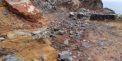 El Cabildo de La Gomera cierra la pista de acceso a Puntallana debido a un desprendimiento