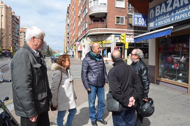 Zaragoza.- Asensio (CHA) reclama la renovación de la Avenida de Navarra