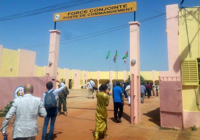 Cuartel de la fuerza G5 Sahel en Sevare