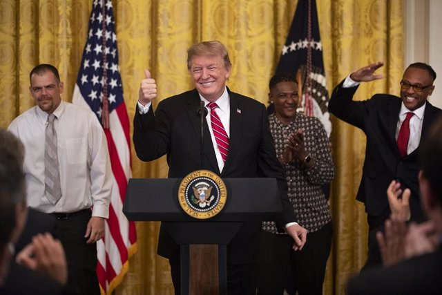 Trump celebrates criminal justice reform law at White House