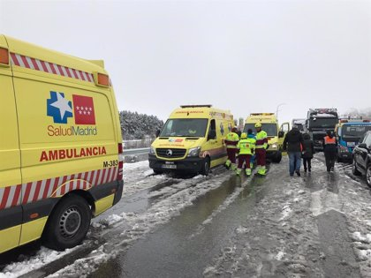 Reabierto parcialmente el tráfico en la A-1 en Madrid y Segovia tras el accidente múltiple