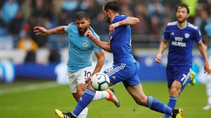 """Agüero, """"casi recuperado"""" para duelo del City en las semifinales de la FA Cup"""