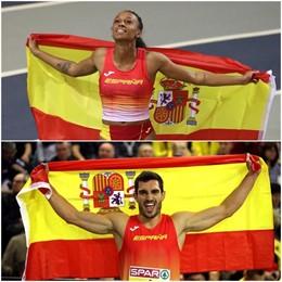 Atletismo.- Ana Peleteiro y Jorge Ureña, atletas europeos del mes