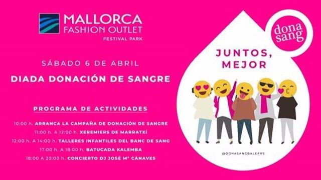 El Mallorca Fashion Outlet acoge el sábado la Diada por la donación de sangre