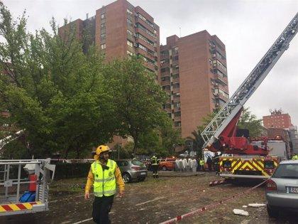 Dejan diáfana la última planta del edificio de Vallecas para facilitar las labores de consolidación tras la explosión