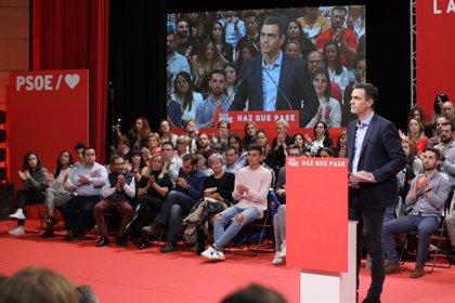 """Sánchez pide la """"suma de todas las voluntades"""" porque PSOE puede sumar """"más que las tres derechas"""""""