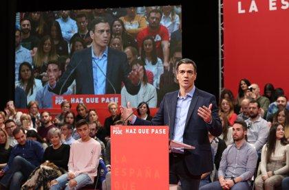 """Sánchez pide la """"suma de todas las voluntades"""" para que PSOE sume """"más que las tres derechas"""""""