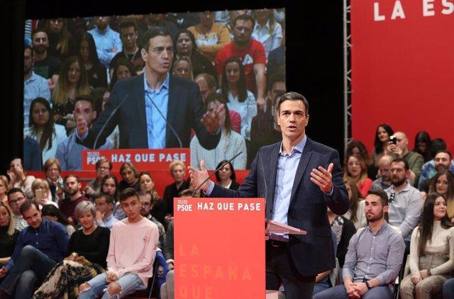 Pedro Sánchez participa en un acto con los socialistas en Toledo