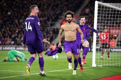 Salah rescata al Liverpool en su visita al Southampton