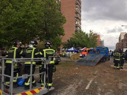 Dos de las 82 familias afectadas por la explosión en un edificio de Vallecas solicitan alojamiento al Samur Social