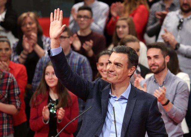 """28A.- Pedro Sánchez Subraya Que Aspira A Gobernar """"En Solitario"""" Tras Las Elecci"""