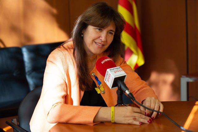 Retrats de la diputada de Junts per Catalunya en el Parlament, Laura Borràs