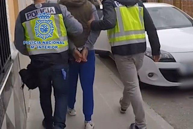 Imagen del arresto, 22-3-18
