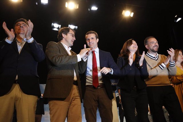 Acto del PP con militantes en Salamanca (Castilla y León) en el que interviene e