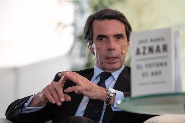 José María Aznar, presenta su último libro 'El futuro es hoy' en la XI Feria del