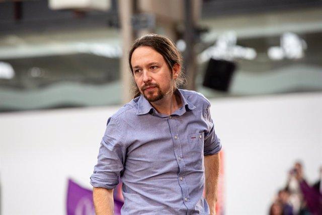 Acte 'Guanyem per Avançar' amb el secretari general de Podem, Pablo Iglesias
