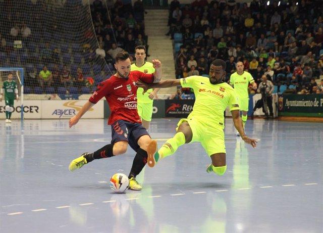 Fútbol sala/Primera.- (Crónica) El Barça Lassa ofrece el liderato a ElPozo tras