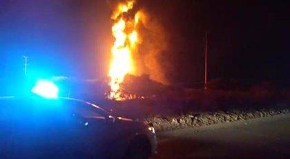 Explota un ducto de Pemex provocando un fuerte incendio en el estado mexicano de Guanajuato