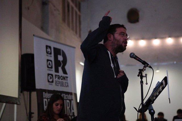 """28A.- El Front Republicà presenta un programa """"d'aliança rupturista, d'esquerres"""