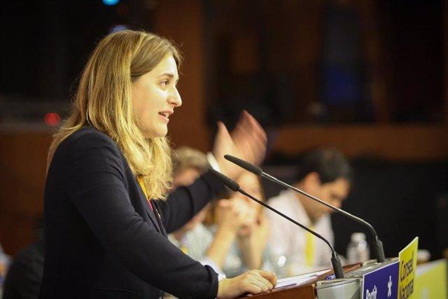 Marta Pascal durante el Consell Nacional del partido