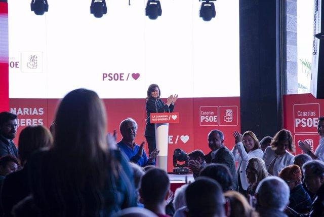 El secretario general del PSC-PSOE, Ángel Víctor Torres, y la vicepresidenta del