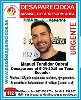 Cádiz.- Sucesos.- Denuncian la desaparición de un joven de Trebujena cuando se e