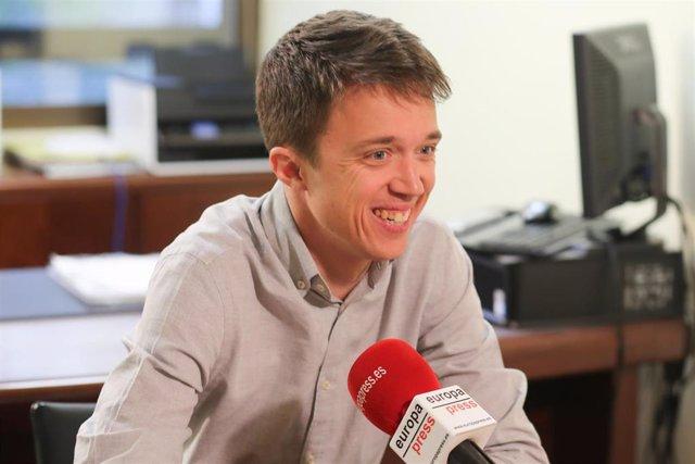 Retratos del candidato de Más Madrid a la Presidencia de Madrid, Íñigo Errejón