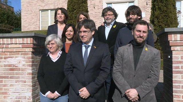 El expresidente de la Generalitat Carles Puigdemont en Waterloo