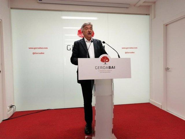 """28A.- Geroa Bai acusa a UPN de """"seguidismo y pasividad"""" ante """"las propuestas ant"""