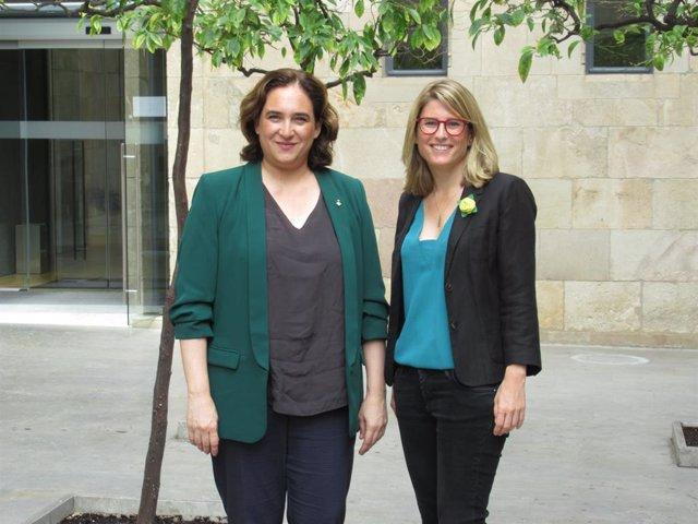 L'alcaldessa de Barcelona, A.Colau, i la consellera de Presidència, I.Artadi