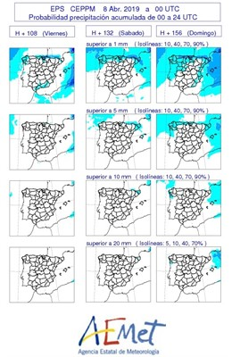La Aemet no prevé lluvia en Castilla y León en el inicio de la Semana Santa