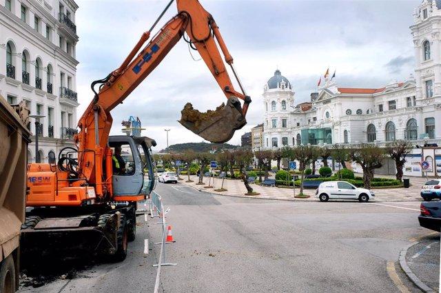 Santander.- Comienza la remodelación de la plaza de Iatalia y los Jardines de Sa