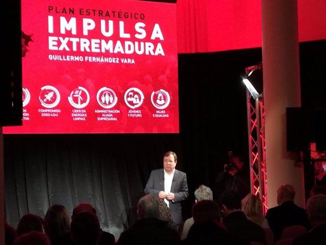 """26M.- Vara Presenta Un Plan Estratégico Para """"Impulsar"""" Extremadura En Materia E"""