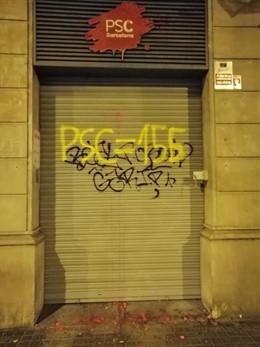 Batet i Colloboni lamenten que la seu del PSC de Barcelona hagi tornat a amanec