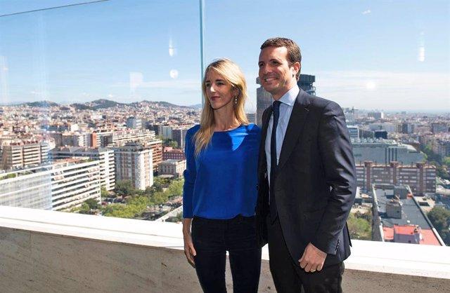 Pablo Casado presenta el programa electoral del Partido Popular en Barcelona