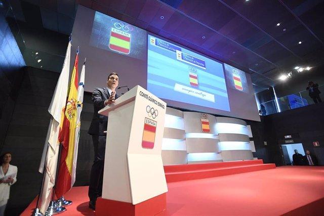 """Pol. Deportiva.- Pedro Sánchez defiende una """"política de Estado"""" para el deporte"""