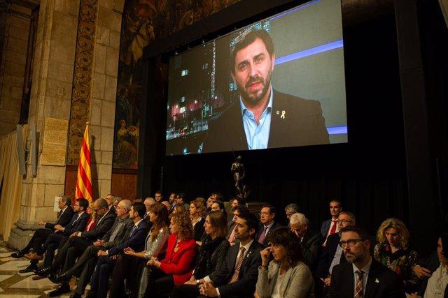 Presentació del Consell per la República en el Palau de la Generalitat