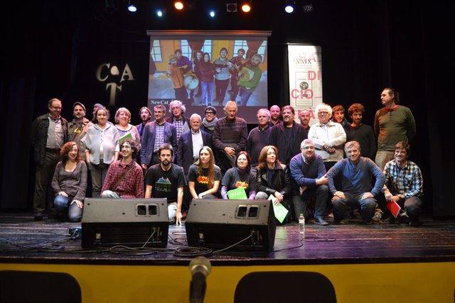 Los organizadores y músicos que forman parte del XXIX Tradicionàrius