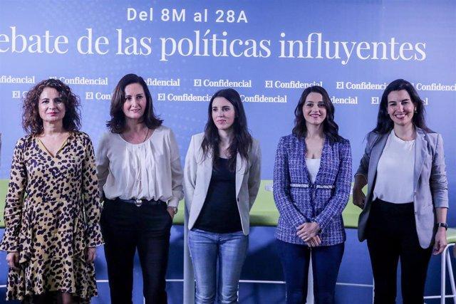 'El Confidencial' organiza el debate 'Del 8M al 28' con algunas de las políticas