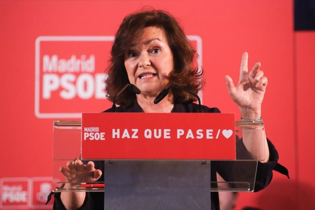 Carmen Calvo interviene en un acto en Pinto