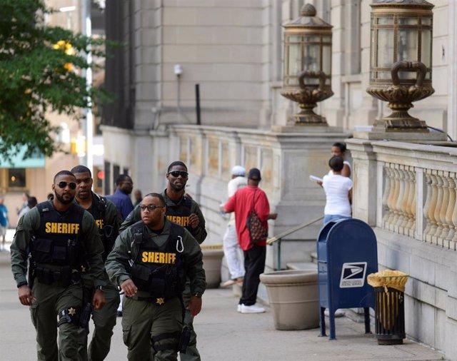Policías en Baltimore, Maryland