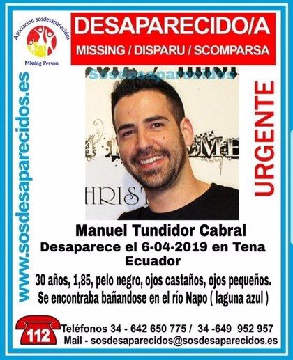Ecuador da por muerto al estudiante español desaparecido mientras se bañaba en el río Jatunyacu