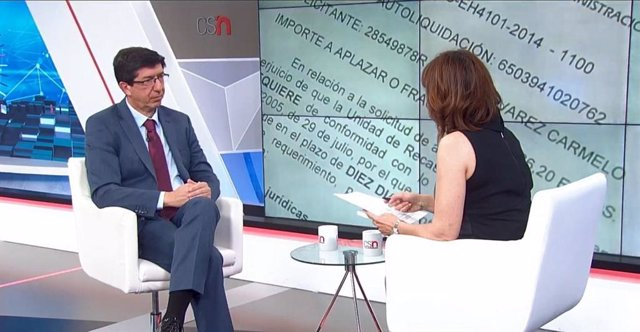 """Marín acusa a PSOE-A de """"no querer entenderse con nadie"""" e insta a Vox a no conf"""