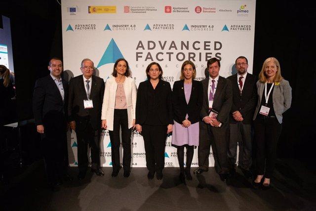 Inauguració de l'esdeveniment Advanced Factories a Barcelona