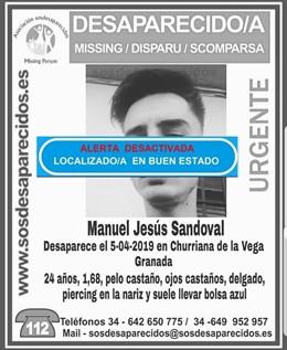 Granada.- Sucesos.- Localizado en buen estado el joven desaparecido desde el vie