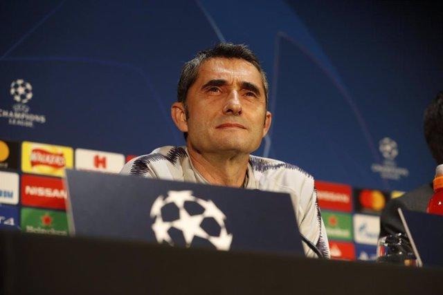 """Fútbol/Liga Campeones.- Valverde: """"Estamos confiados, hemos respondido en moment"""