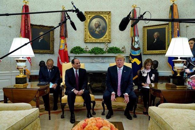 EEUU/Egipto.- Trump y Al Sisi se reúnen en la Casa Blanca para hablar de las rel