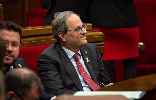 Quim Torra En El Parlament De Catalunya