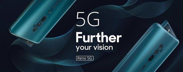 Oppo presenta Reno 5G, su primer teléfono con 'zoom' de diez aumentos y soporte